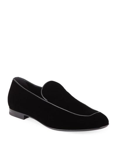 Men's Formal Apron Suede Loafer