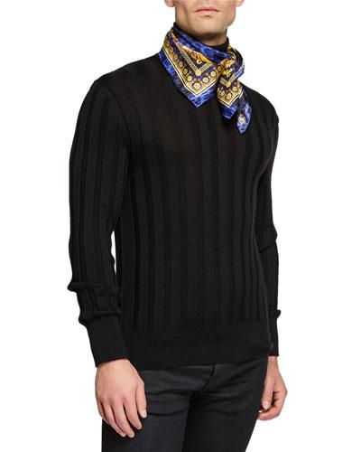 Men's Baroque/Leopard Silk Twill Scarf