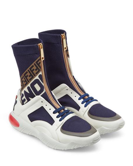 ddd128d26b06 Fendi Men s Fendi Mania Zip-Front Sock Sneakers