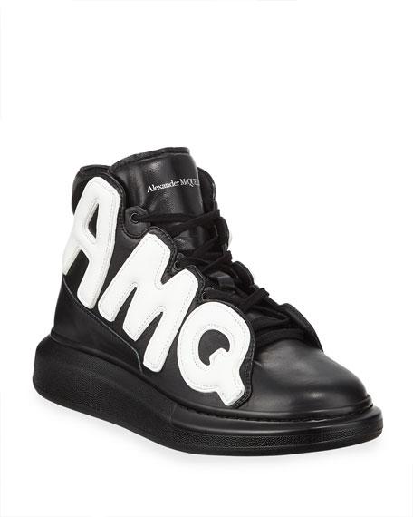 Alexander McQueen Men's High-Top Oversized Graphic Sneaker in