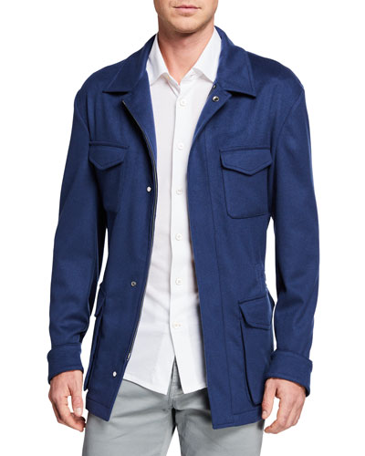 Men's Cashmere Safari Jacket