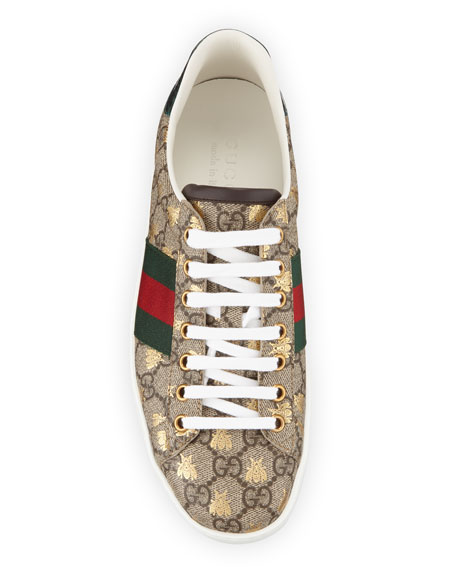 0b24f7c0d Gucci Men's Ace GG Supreme Bee Sneakers