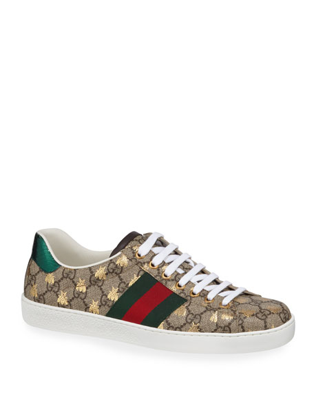 Gucci Men's Ace GG Supreme Bee Sneakers
