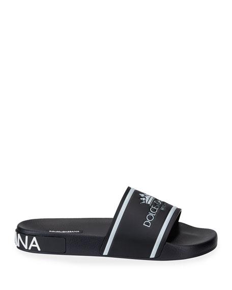 Men's Crown Logo Slide Sandals