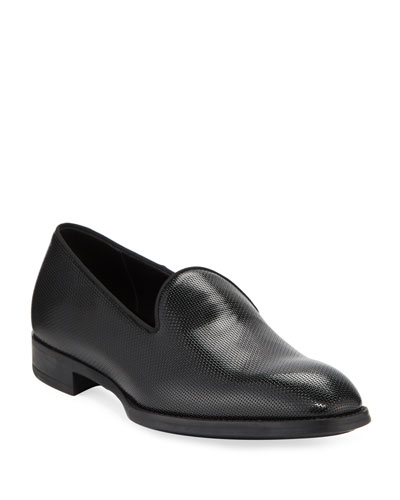 Men's Pebble Textured Formal Loafer