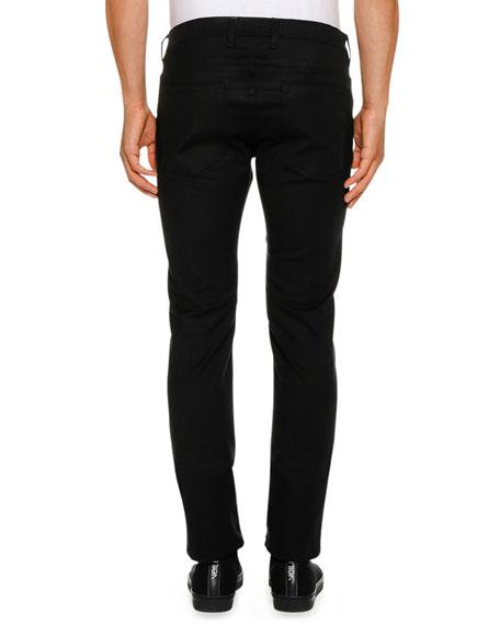 Men's Ergodynamic Straight-Fit Biker Jeans
