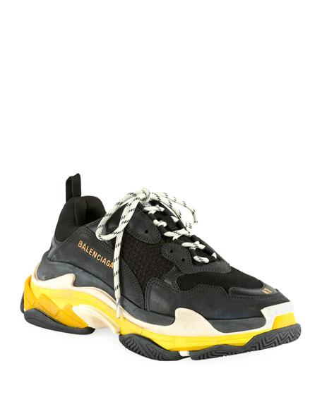 d9c2351811ed Balenciaga Men s Triple S Mesh   Leather Sneakers