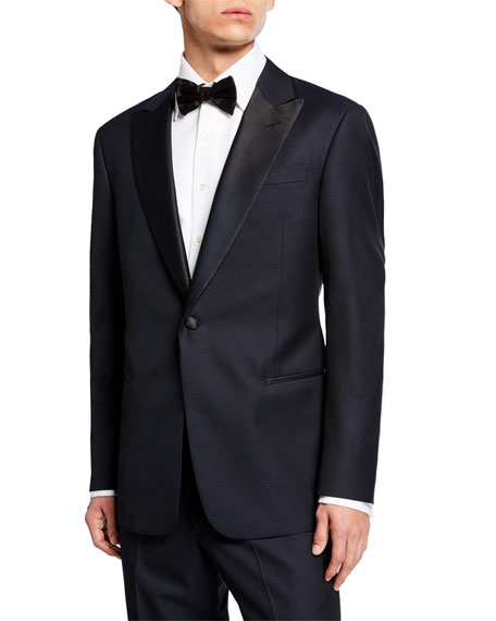 Giorgio Armani Tops MEN'S MICRO-TEXTURED TWO-PIECE TUXEDO