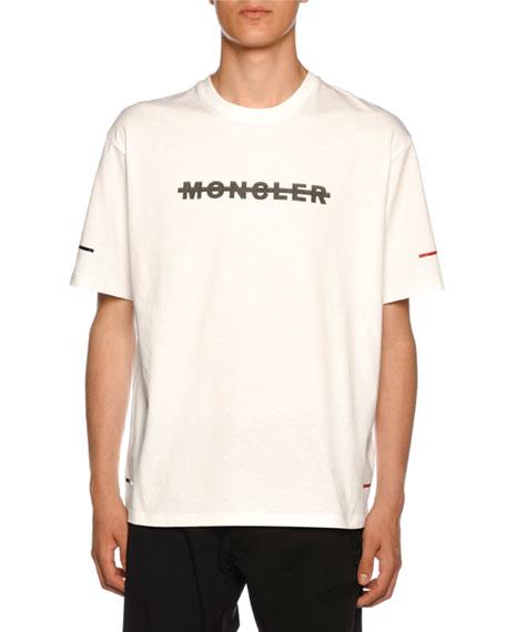 Moncler Men's Crossed-Out Logo T-Shirt