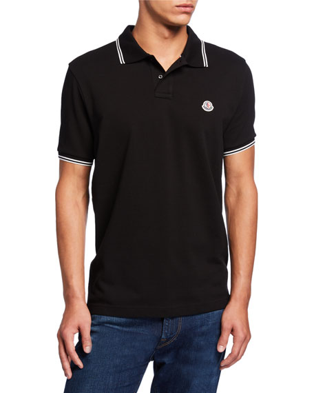 Image 1 of 1: Men's Contrast Stripe Polo Shirt