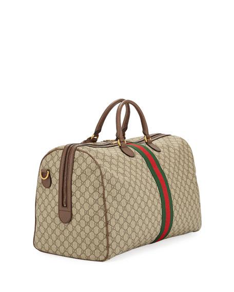 Men's Ophidia GG Supreme Duffel Bag