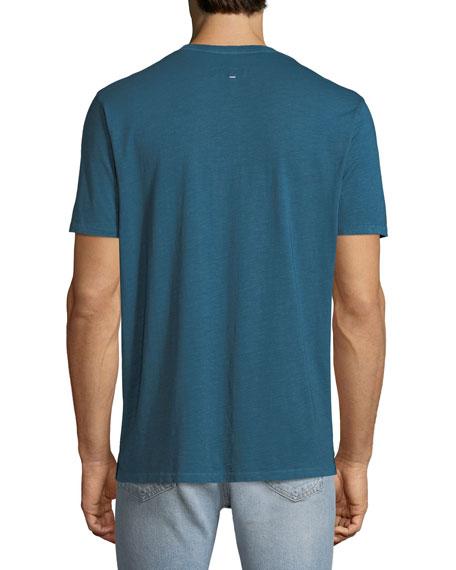 Men's Garment-Dyed Pocket T-Shirt with Logo