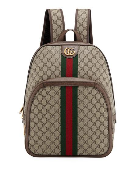 495f38f8f3a Gucci Men s GG Supreme Medium Canvas Backpack