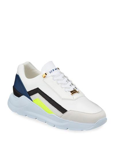 Men's Strada Leather Trainer Sneakers