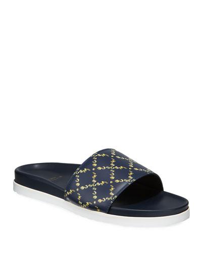 Men's Monogram Leather Slide Sandal