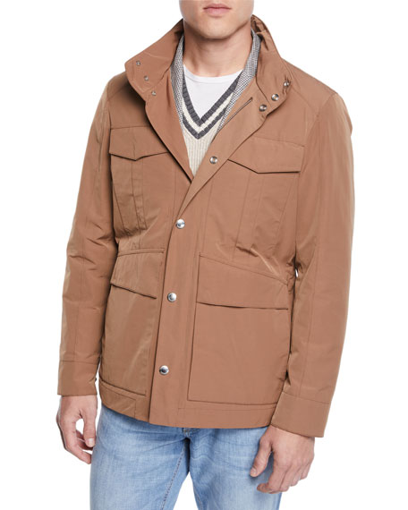Brunello Cucinelli Men's Vespa Moto Long Jacket