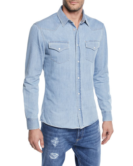 Men's Denim Western Shirt