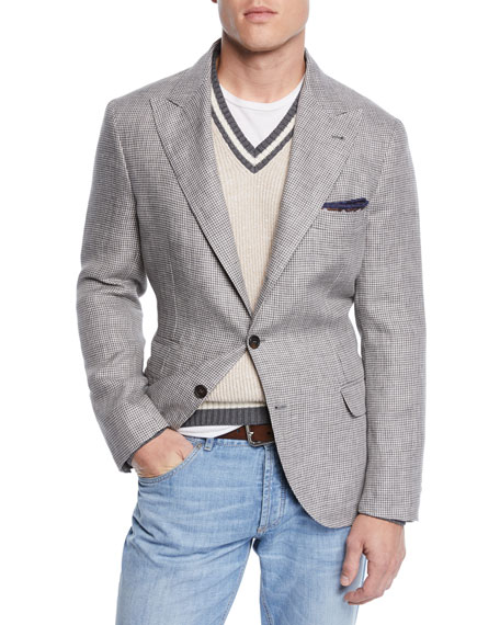 Brunello Cucinelli Men's Houndstooth Sport Jacket