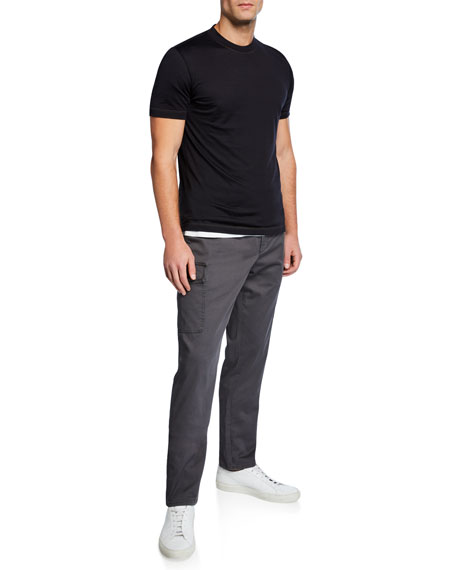Men's Silk/Cotton Crewneck T-Shirt