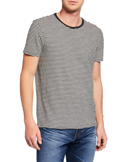 ATM Anthony Thomas Melillo Men's Striped Cotton T-Shirt