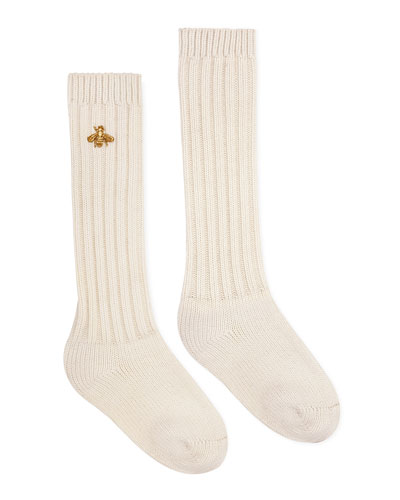 Men's Bee-Embroidery Tube Socks