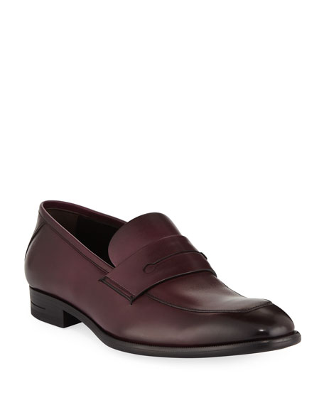 Ermenegildo Zegna Men's New Flex Leather Penny Loafers