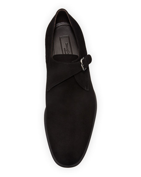 Ermenegildo Zegna Men S New Flex Suede Monk Strap Shoes