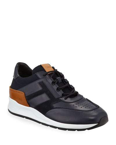8e3e19d8e18 Promotion Men s 56-B Mesh   Leather Trainer Sneakers Navy Quick Look. Tod s