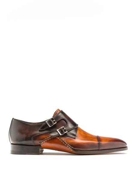 Men's Ondara Double-Monk Two-Tone Leather Shoes
