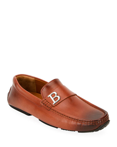 Bally Men's Pievo B-Detail Leather Drivers