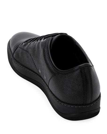 Men's Grain Bullskin Low-Top Sneakers