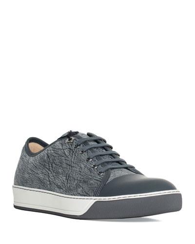 Men's Woodland Textured Cap-Toe Sneakers