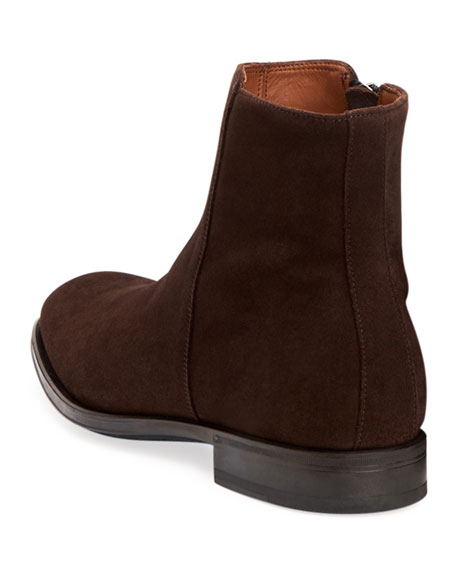 Men's Daniel Waterproof Suede Side-Zip Ankle Boots