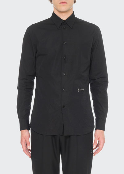 Men's Embroidered Woven Shirt