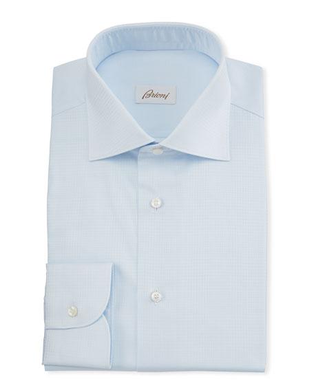 Men's Plaid Jacquard Dress Shirt
