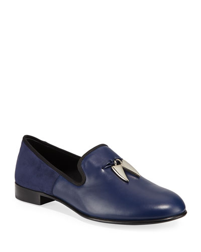 Men's Shark Tooth Leather Loafers