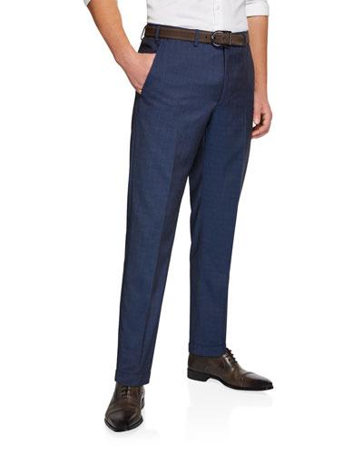 Men's Classic Wool Dress Trousers
