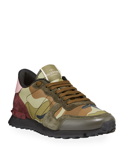 Men's Rockrunner Camo Leather Sneakers