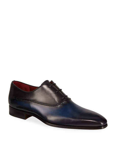 Neiman Marcus Shoes MEN'S BOL WIND SEAMED LEATHER DRESS SHOES