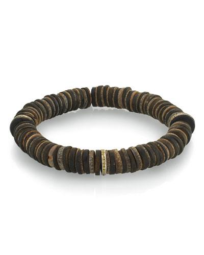 Men's Coconut & Diamond Bracelet  Size M