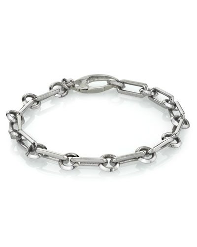 Men's Long Link Chain Bracelet  Size M