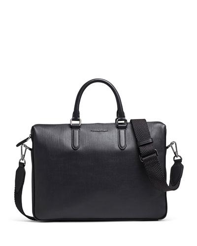 Men's Stuoia Printed Calf Leather Briefcase