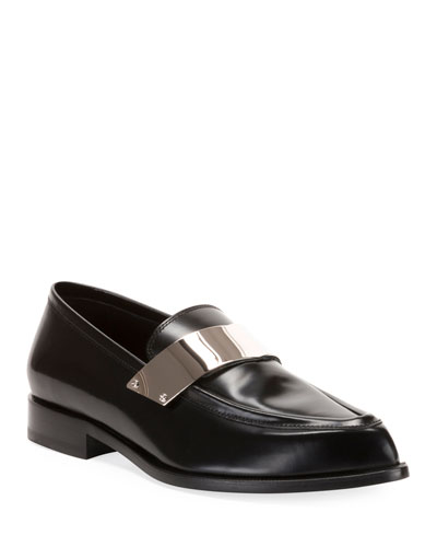 Men's Karl Shiny Leather Dress Loafers