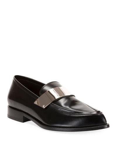 Men's Karl Shiny Leather Dress Loafers