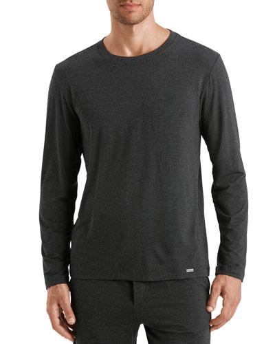 Men's Casual Long-Sleeve Crew T-Shirt