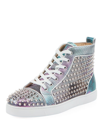 9cc5df081df Men s Louis Orlato Spiked High-Top Sneakers Quick Look. Christian Louboutin