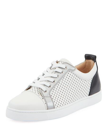 Christian Louboutin Men's Louis Junior Spike Low-Top Sneakers