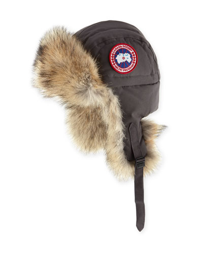 Coyote-Fur Aviator Hat