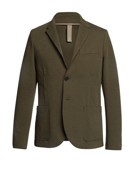 Men's Piquet Blazer w/ Elbow Patch