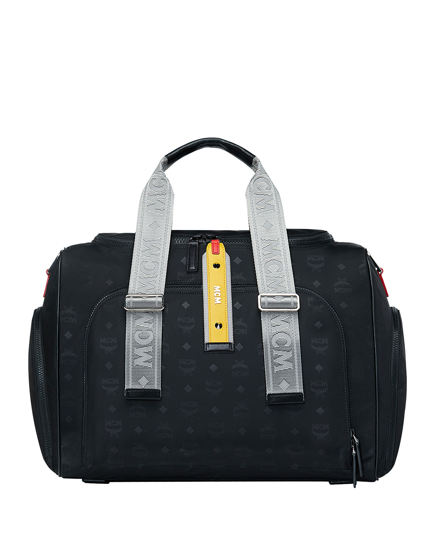 Men S Resnick Monogrammed Nylon Weekender Bag